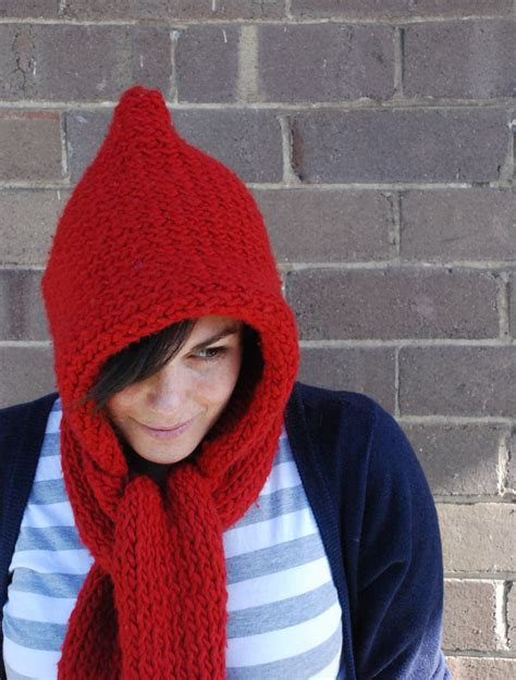how to knit a hooded scarf hooded scarf learn to knit knitting pattern by knittyknitty