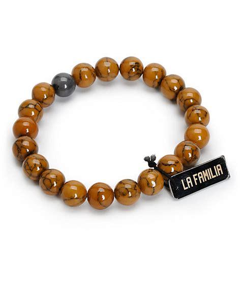 brown beaded bracelet la familia lax brown beaded bracelet