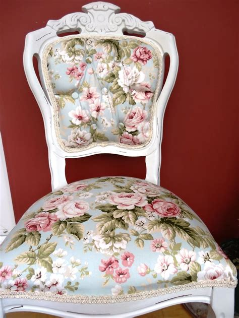 shabby chic floral white louis chair www swankyseats co uk shabby chic pinterest shabby