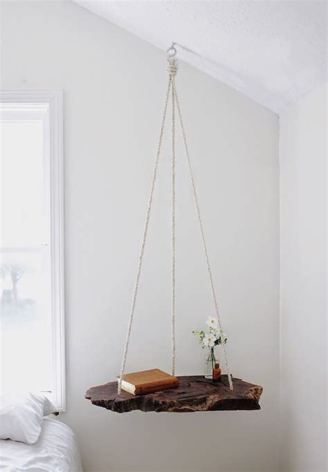Suspended Shelf by Diy Hanging Bedside Table Decorator S Notebook