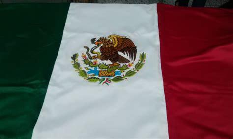 imagenes chidas mexico bandera mexico bordada doble vista 90x1 58 mt