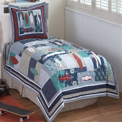 surfing usa quilt with pillow sham townhouse linens