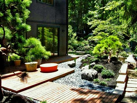 japanese garden house design interior of