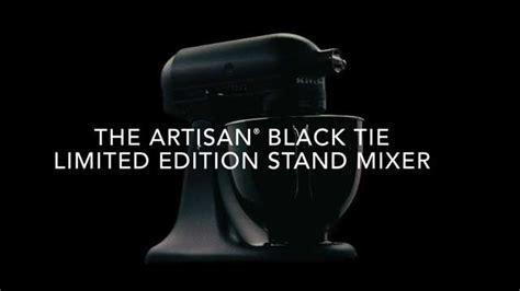 black tie stand mixer kitchenaid introduces limited edition artisan 174 black tie