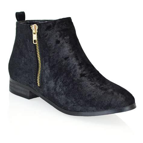 flat heeled shoes new womens chelsea flat heel biker gold zip