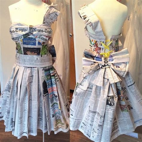 How To Make A Mannequin Out Of Paper Mache - recycled newspaper dresses recycled things