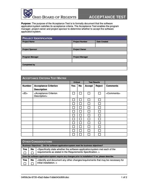 acceptance form template user acceptance form template sletemplatess