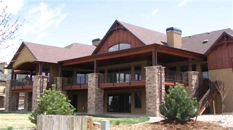 walk out basement home plans mountain house plans with walkout basement mountain ranch