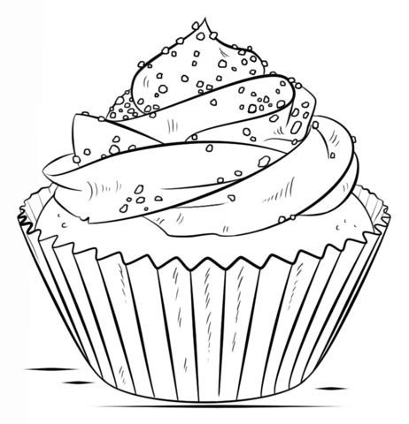 Cupcake Coloring Pages To Print by Cupcake Coloring Page Free Printable Coloring Pages