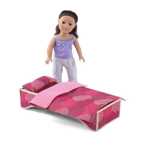 american doll travel bed 18 inch doll accessories windowed travel doll carrier bed with accessories fits american