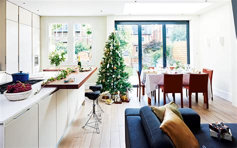 Kitchen And Living Room Side By Side Modern Kitchen Diner From A Side Return Extension Real Homes