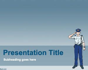 free police powerpoint template
