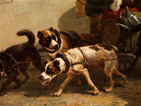hunde wagen aufbruch mit hundewagen by henriette ronner knip on artnet