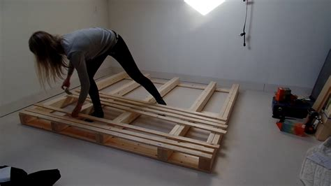 Pallet Bed Frame Diy Youtube Do It Yourself Bed Frame Ideas