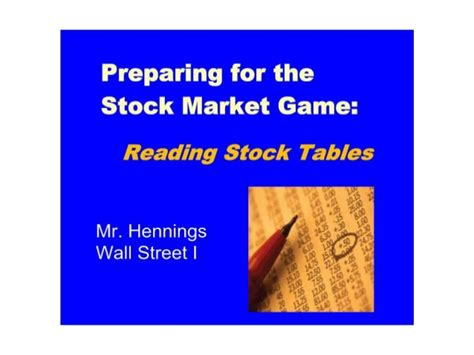 how to read stock table ch 1 a how to read a stock table