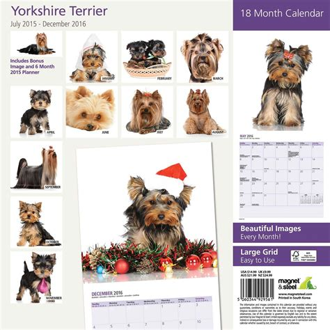 yorkie calendar yorkie 2013 monthly sticker calendar terriers breeds picture