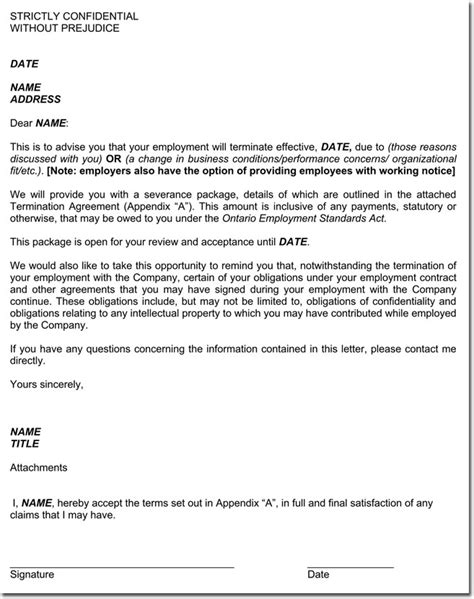 appointment letter contract labour act contract termination letter sles 12 formats templates
