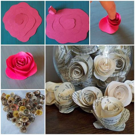 Easy Way To Make Paper Roses - diy easy paper