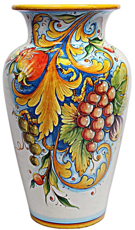 Vases From Italy by Deruta Italian Ceramic Vase