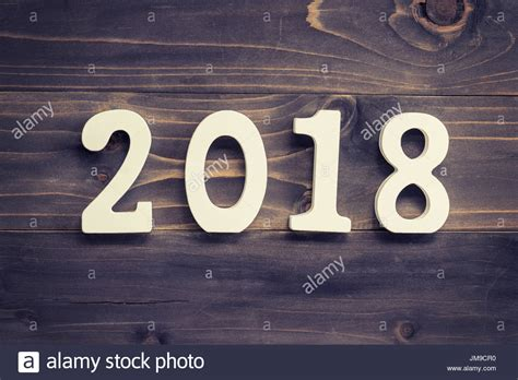 new year 2018 number new year concept for 2018 wood numbers 2018 on wood