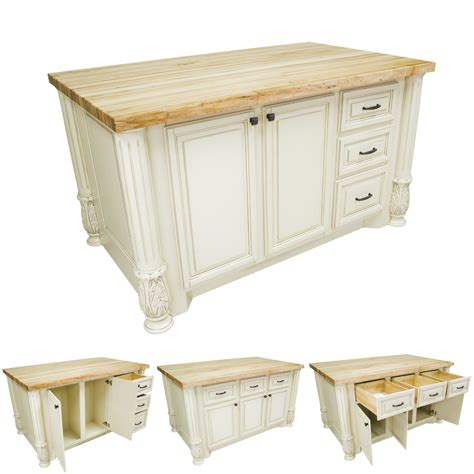 Kitchen Island Antique Antique White Kitchen Island With Smaller Drawers Isl05 Awh