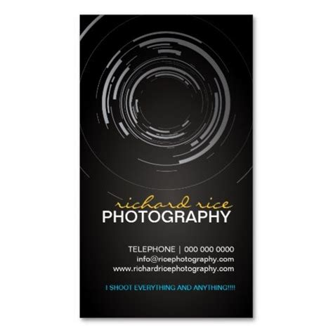 Photography Plastico Business Card Template by Modern Photographer Business Cards Photographer Business