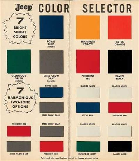 willys paint colors 1957 willy s forward posts colors and two tones