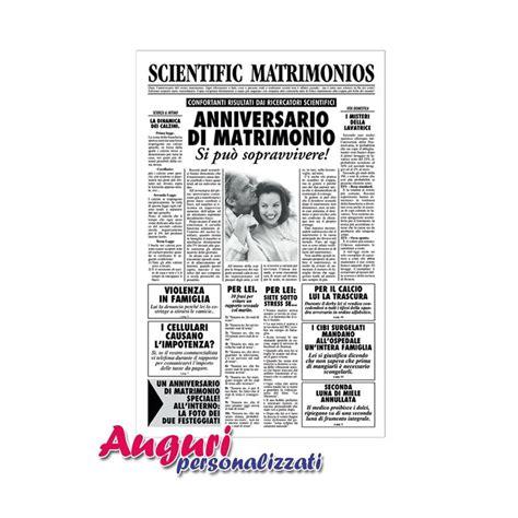 quotidiano interno 18 biglietto auguri matrimonio giornale anniversario auguri