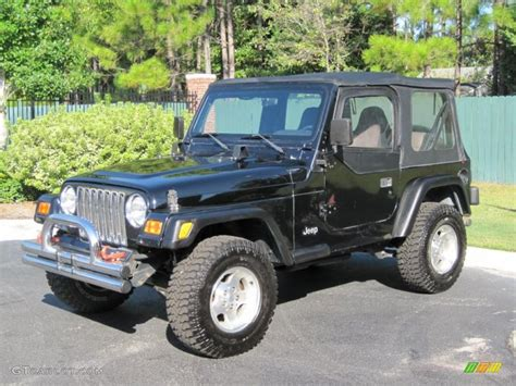 2000 black jeep wrangler sport 4x4 36294706 gtcarlot car color galleries