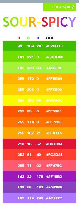 neon orange color code sour spicy color schemes color combinations color