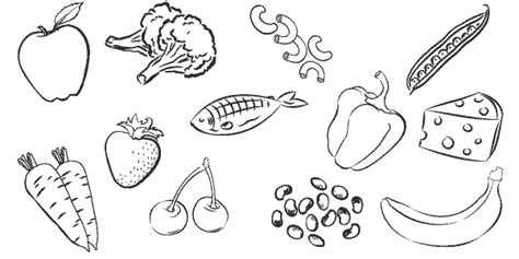 healthy food coloring pages healthyfood colouring pages