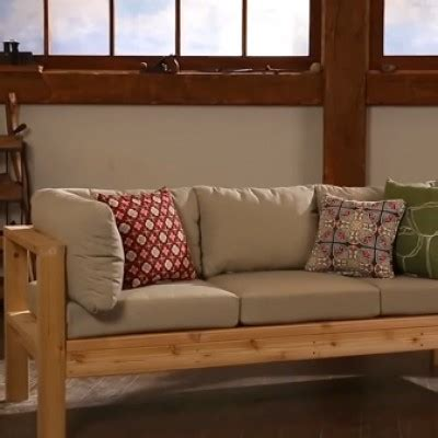 wood outdoor sofa how to make a solid wood outdoor sofa bench