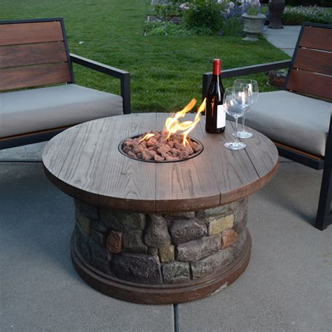 Silver Rock Lp Gas Fire Pit Walmart Com Lp Gas Firepits