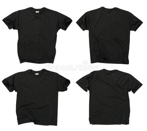 Kaos Tshirt Musical Ly blank black t shirts front and back stock photo image of