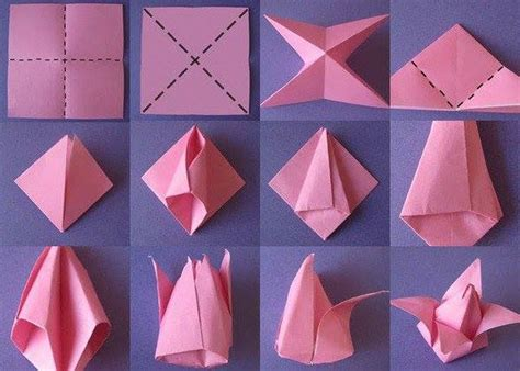 Folding Origami Flowers - easy paper folding crafts recycled things