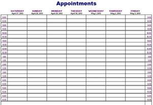 Weekly Appointment Calendar Template by Free Printable Weekly Appointment Calendar Printable