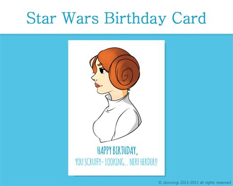 printable birthday cards star wars free star wars birthday card princess leia printable card