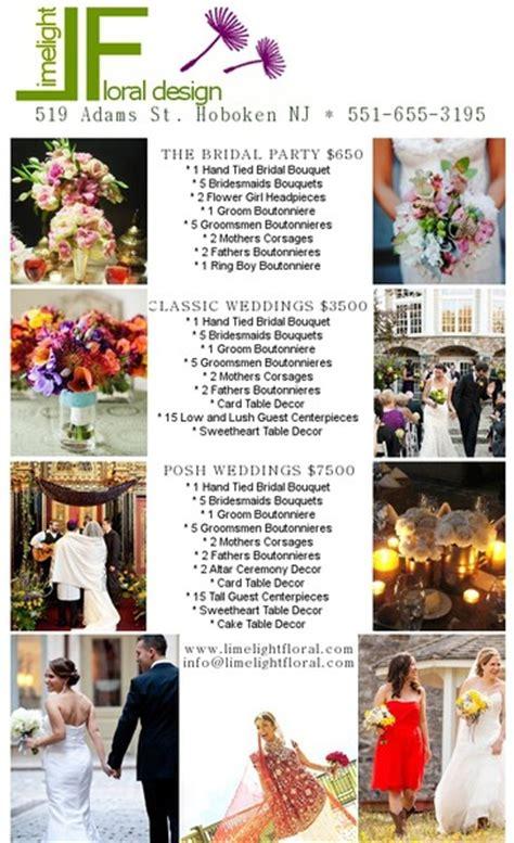 Wedding Florist Brochure by Limelight Floral Design Hoboken Nj Wedding Florist