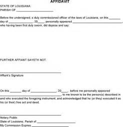 download blank louisiana affidavit for free formxls