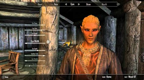skyrim hot redguard skyrim characters cute male woodelf stats youtube