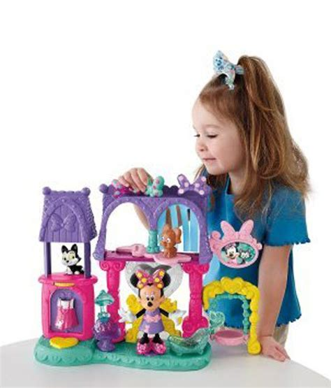 minnie doll house fisher price disney minnie mouse bowtique dollhouse imported toys buy fisher price