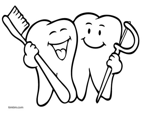 free coloring pages of teeth