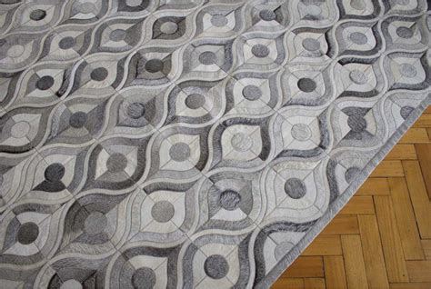 Grey Patchwork Cowhide Rug Gray River Design Patchwork Cowhide Rug Shine Rugs