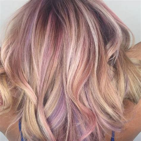 shag haircut brown hair with lavender grey streaks 50 pink hair highlight ideas every girl should see style