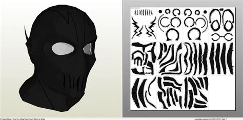 Topeng Batman Justice League Mask papercraft pdo file template for the flash zoom cowl