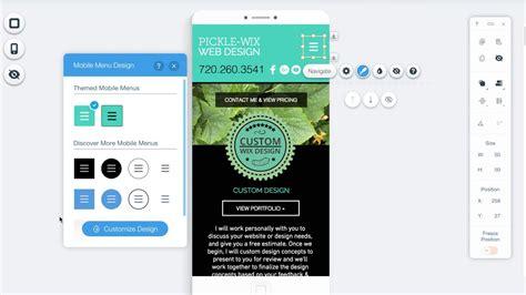 wix mobile editing mobile menu in wix