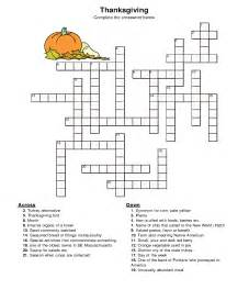 printable thanksgiving crossword puzzles thanksgiving 2015 crossword puzzle