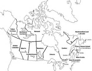 us and canada outline map