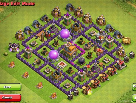 layout design coc th 7 new farming layout collection with town hall inside base