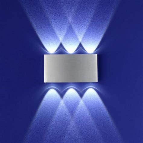 Wandstrahler Innen Mit Schalter by Led Wandleuchte Aluminium Wohnlicht
